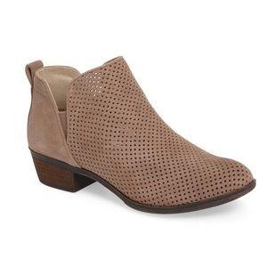 NIB | bp | Faren Perforated Leather Booties